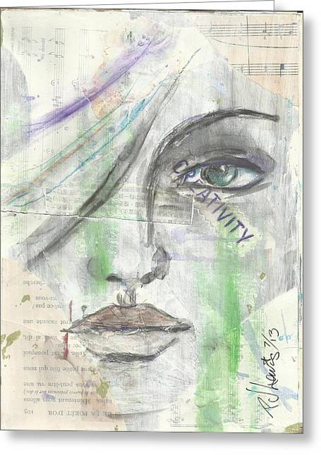 Layers Drawings Greeting Cards - Creativity Greeting Card by P J Lewis