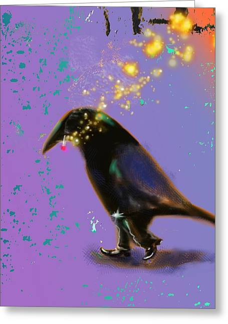Corvus Greeting Cards - Creator of Sun Sets Greeting Card by Marcello Cicchini