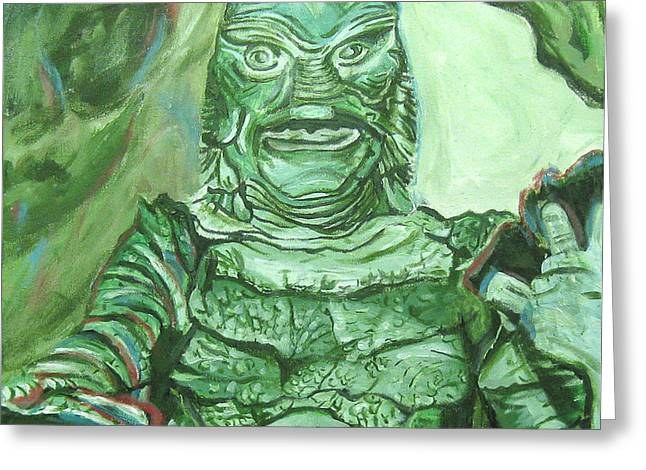Creature From The Black Lagoon Greeting Cards - Creature From The Black Lagoon Greeting Card by Michael Morgan