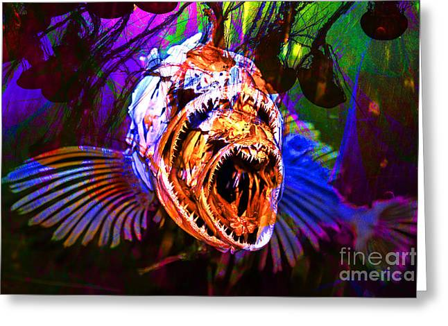 Creatures Of The Deep - Fear No Fish 5D24799 v2 Greeting Card by Wingsdomain Art and Photography