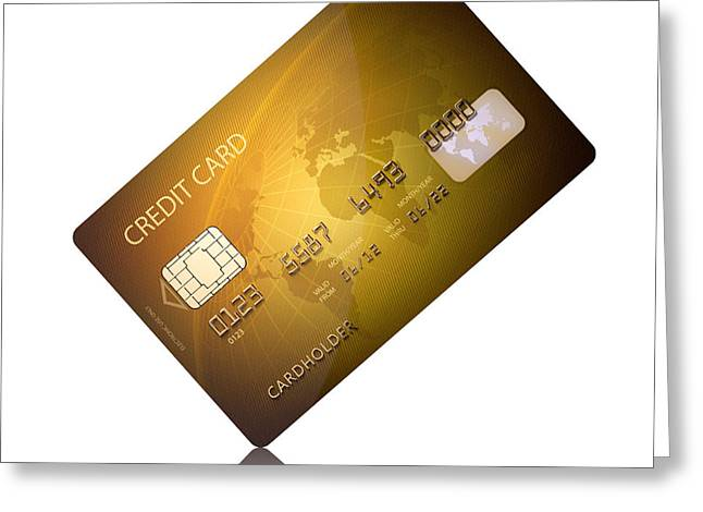 Credit card Greeting Card by Johan Swanepoel