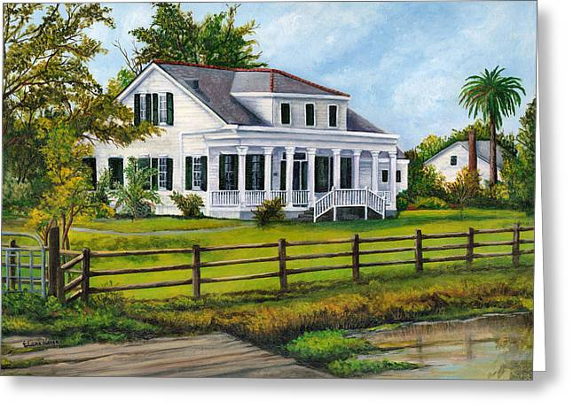 Cajun Greeting Cards - Creedmoor Plantation Greeting Card by Elaine Hodges