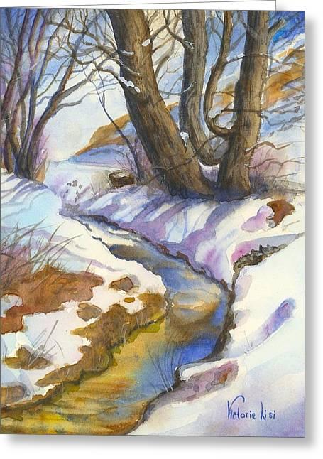 Bobcat Greeting Cards - Creek at Bobcat Ridge Greeting Card by Victoria Lisi