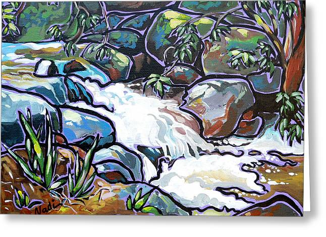 Creek Greeting Card by Nadi Spencer