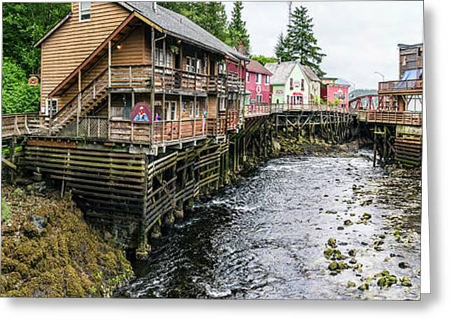 Creek Street On Ketchikan Creek Greeting Card by Panoramic Images