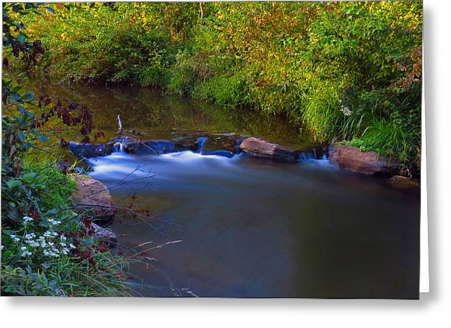 Cullowhee Greeting Cards - Creek Waterfall Greeting Card by Bryant Mountjoy