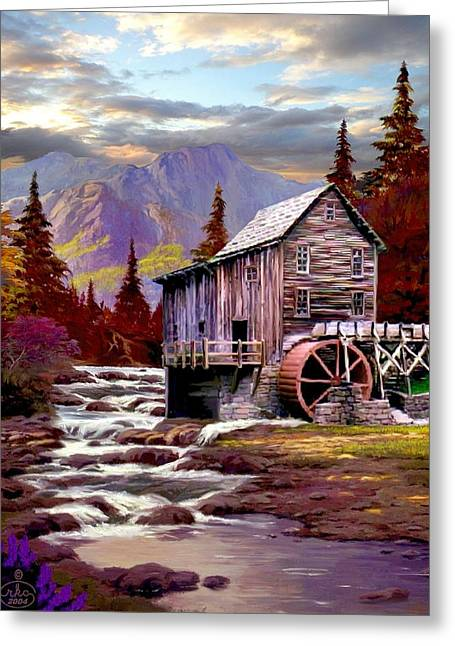 Strike Paintings Greeting Cards - Creekside Mill Greeting Card by Ronald Chambers