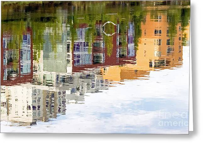 Kate Brown Greeting Cards - Creekside Reflections Greeting Card by Kate Brown