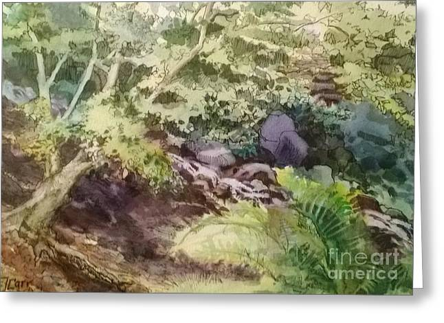 Creekside Smith Gilbert Gardens Greeting Card by Elizabeth Carr