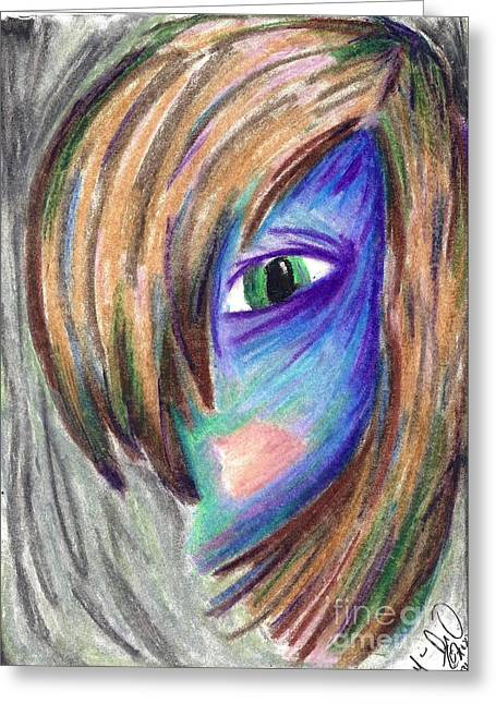 Violet Blue Pastels Greeting Cards - Creepily Colored Smooth Greeting Card by Marie De Garo