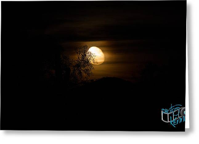 Kenny Jalet Greeting Cards - Creepy AZ Moon Greeting Card by Kenny Jalet