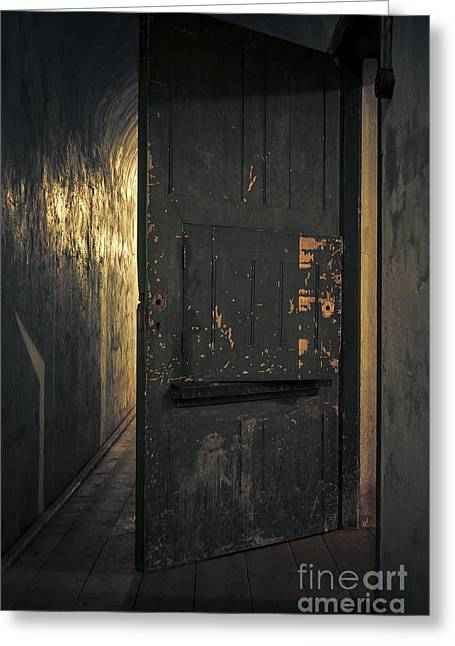 Terrifying Greeting Cards - Creepy Door Greeting Card by Svetlana Sewell