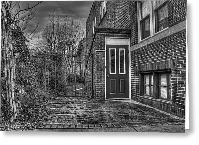 Rochester Artist Greeting Cards - Creepy Gate Greeting Card by Tim Buisman