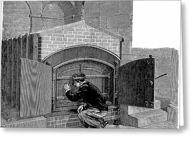 Cremation Furnace Greeting Card by Universal History Archive/uig