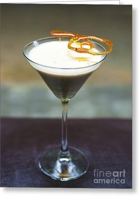 Brulee Greeting Cards - Creme Brulee Alcoholic Cocktail Drink  Greeting Card by Jacek Malipan