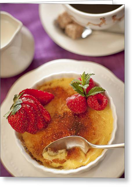 Brulee Greeting Cards - Creme brulee Greeting Card by Kimberly Haugen