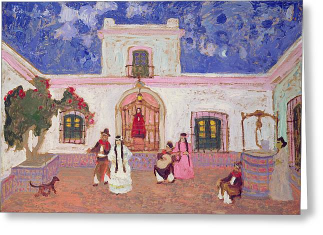 Guitarists Photographs Greeting Cards - Creole Dance, Before 1927 Oil On Card Greeting Card by Pedro Figari
