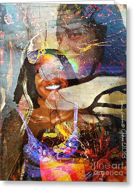 Creolization Greeting Cards - Creolization - Descendants Surviving Tribalism Greeting Card by Fania Simon