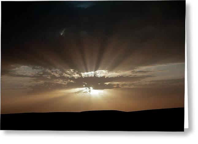 Crepuscular Rays Greeting Card by Jon Wilson