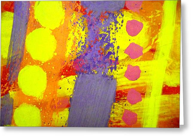 Abstract Expressionistic Greeting Cards - Crepuscule Greeting Card by John  Nolan