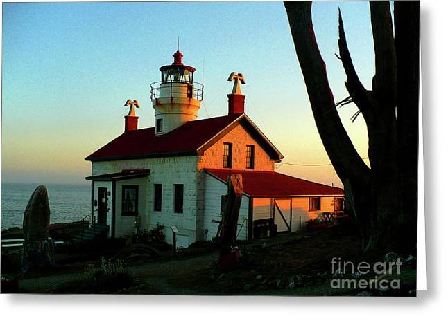 Crescent City Lighthouse Greeting Card by Chad Rice