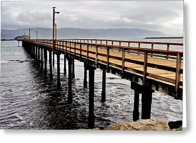 My Ocean Greeting Cards - Crescent City Pier Greeting Card by   FLJohnson Photography