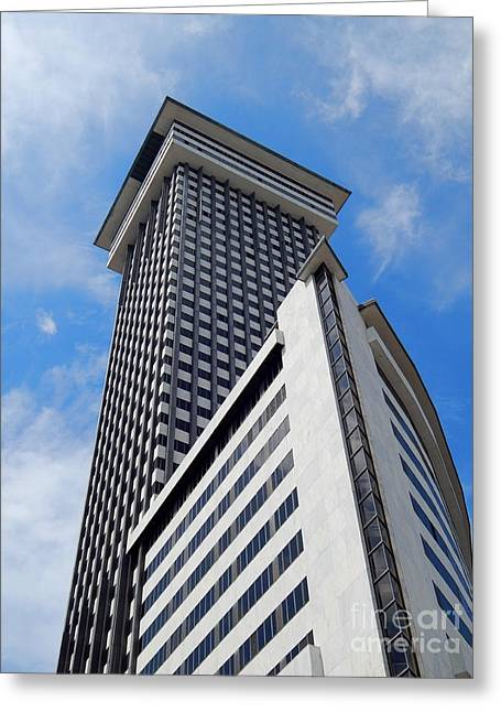 New Orleans Louisiana Framed Prints Greeting Cards - Crescent City Towers Greeting Card by Michael Hoard