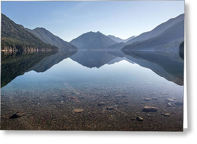 Crescent Lake reflection Greeting Card by Pierre Leclerc Photography