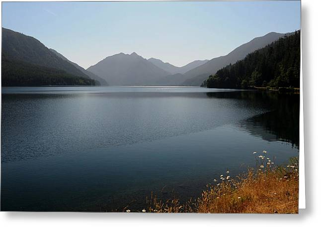 Sea Art Greeting Cards - Crescent Lake Greeting Card by SEA Art