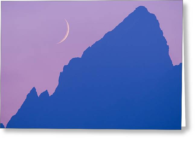 Vanguard Greeting Cards - Crescent Moon and The Grand Greeting Card by Cecil Holmes