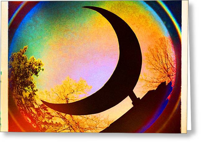 Arkansas Digital Greeting Cards - Crescent Moon over Eureka Springs Greeting Card by Garry McMichael