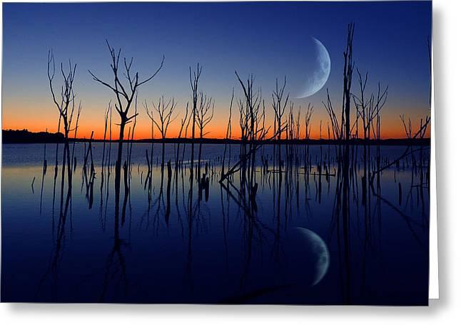 Raymond Salani Iii Greeting Cards - The Crescent Moon Greeting Card by Raymond Salani III