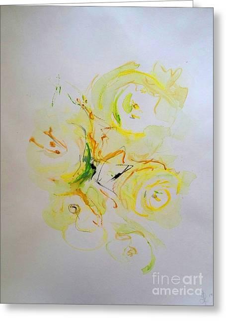 Dorota Zukowska Greeting Cards - Crescent Of Roses Greeting Card by Dorota Zukowska