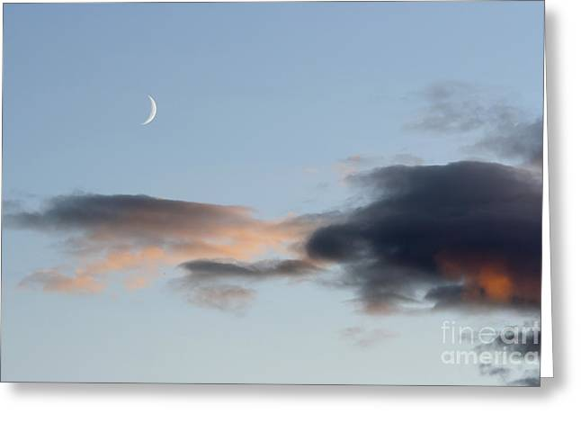 Gloaming Greeting Cards - Crescent Of The Moon Greeting Card by Michal Boubin