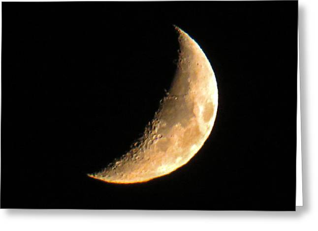 Selenic Greeting Cards - Cresent Moon Greeting Card by Dawn Key