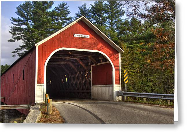 New England Autumn Scenes Greeting Cards - Cresson Covered Bridge 2 Greeting Card by Joann Vitali