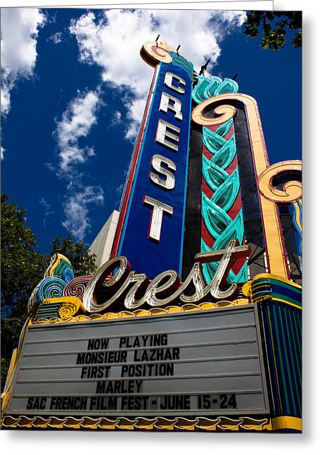 John Daly Greeting Cards - Crest Theater Greeting Card by John Daly