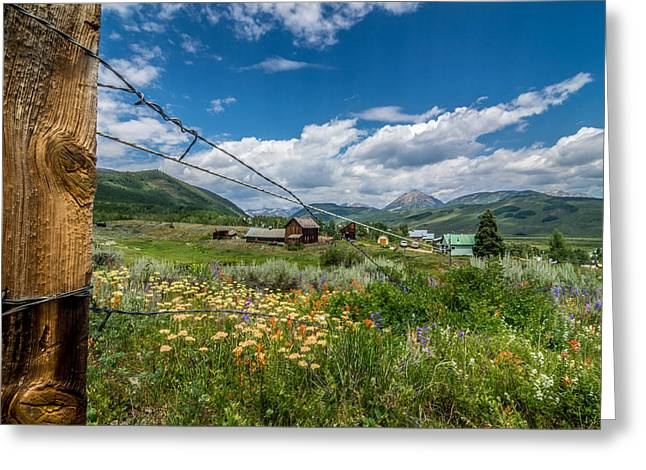 Crested Butte Farm House Greeting Card by Michael J Bauer
