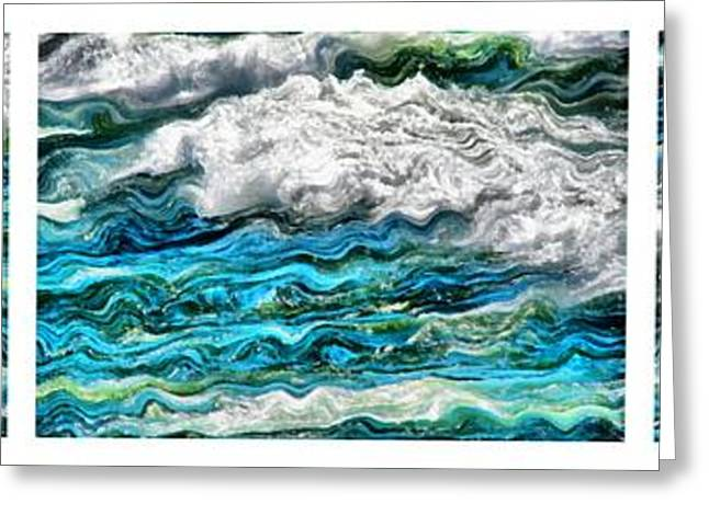 Pure Michigan Greeting Cards - Cresting Waves Greeting Card by Michelle Calkins