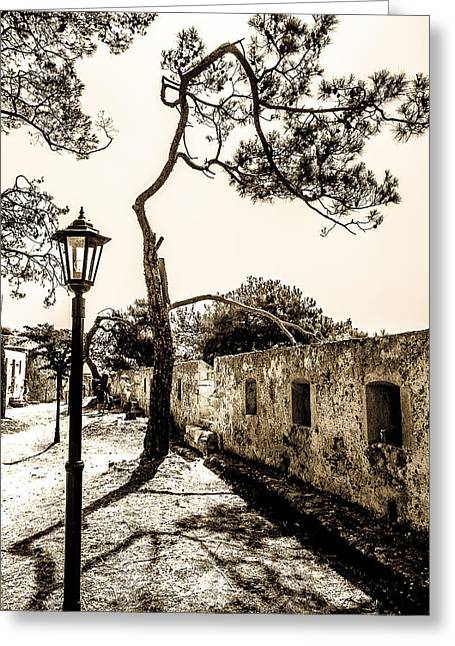 Outdoor Theater Greeting Cards - Crete landscape Greeting Card by Oleg Koryagin