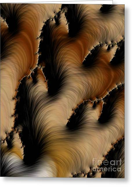 Asymmetrical Greeting Cards - Crevasses  Greeting Card by Heidi Smith