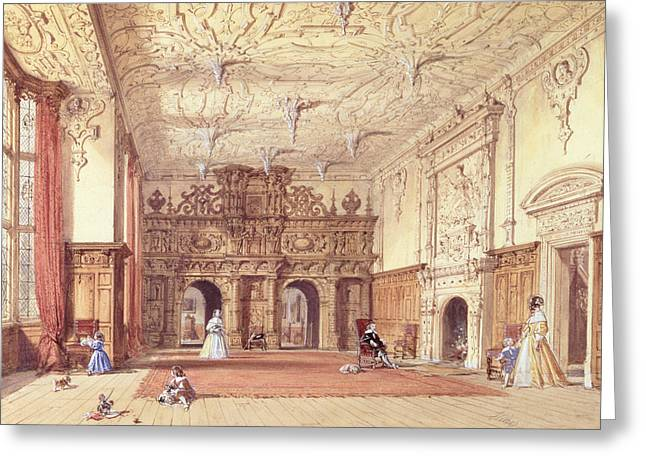 Pendant Greeting Cards - Crewe Hall, Cheshire Greeting Card by Joseph Nash