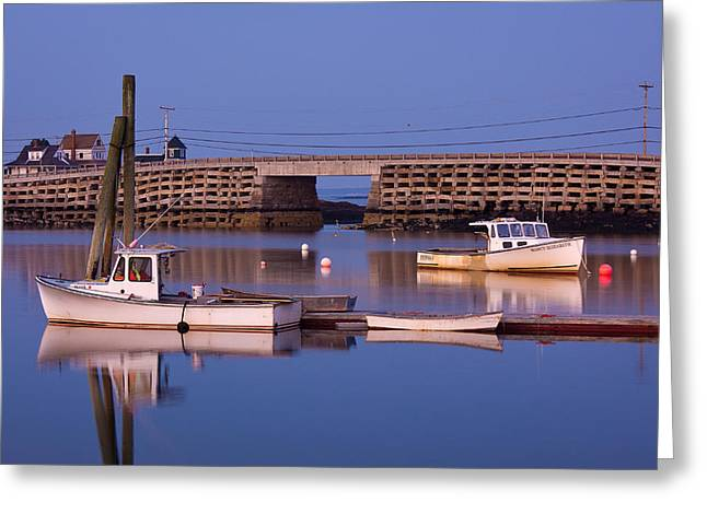 New England Ocean Greeting Cards - Cribstone Greeting Card by Benjamin Williamson