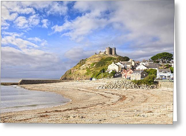 Beach Scenery Greeting Cards - Criccieth Castle North Wales Greeting Card by Colin and Linda McKie