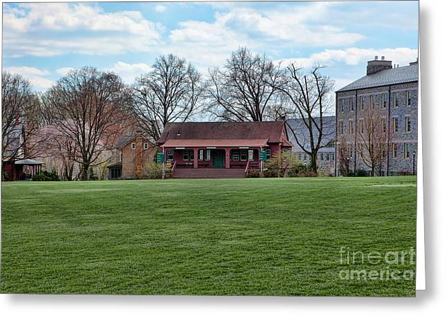 Haverford College Photographs Greeting Cards - Cricket Field Haverford College Greeting Card by Kay Pickens
