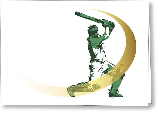Mohammed Ali Greeting Cards - Cricket Greeting Card by Ali ArtDesign
