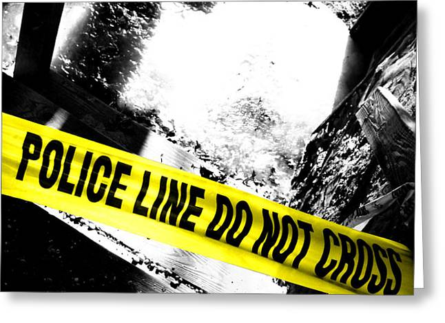 Crime Scene Greeting Card by Olivier Le Queinec