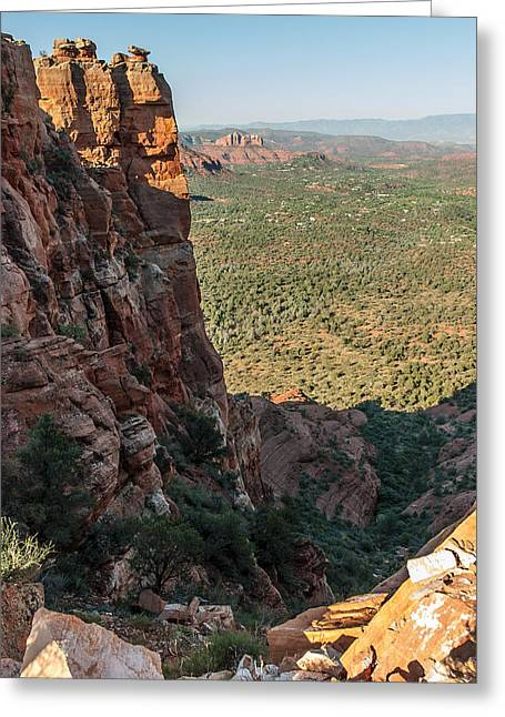 Cathedral Rock Digital Greeting Cards - Crimson Cliffs 04-145 Greeting Card by Scott McAllister