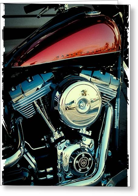 Handle Bars Greeting Cards - Crimson Hog Greeting Card by David Patterson