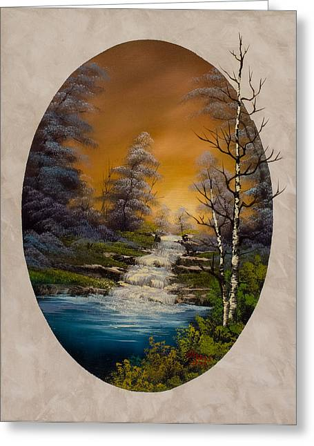 Bob Ross Paintings Greeting Cards - Copper Skies Greeting Card by C Steele